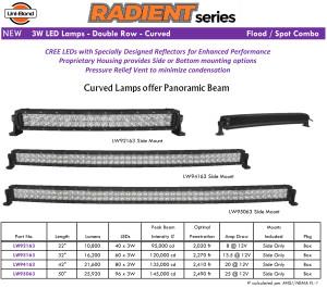Radient Curved Series LED Bar Lights LARGE